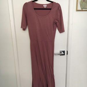 Mauve lularoe Ana dress worn once